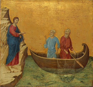 Duccio di Buoninsegna - The Calling of the Apostles Peter and Andrew