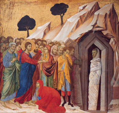 Duccio di Buoninsegna - The Raising of Lazarus