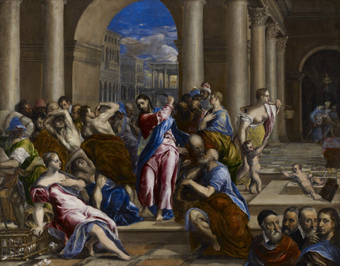 EL Greco - Christ driving the Money Changers from the Temple