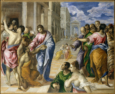 EL Greco - The Miracle of Christ Healing the Blind