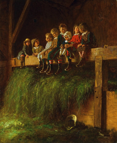 Eastman Johnson - Barn Swallows