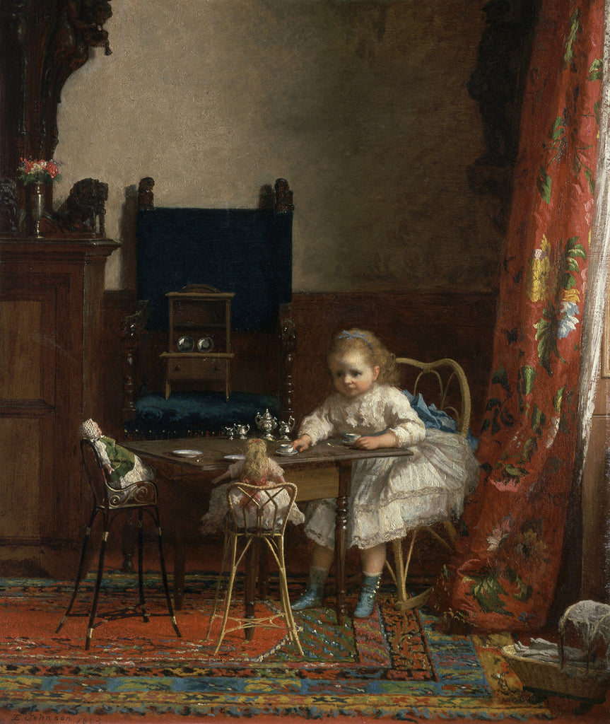 Eastman Johnson - Portrait of Clara Hall (The Tea Party)