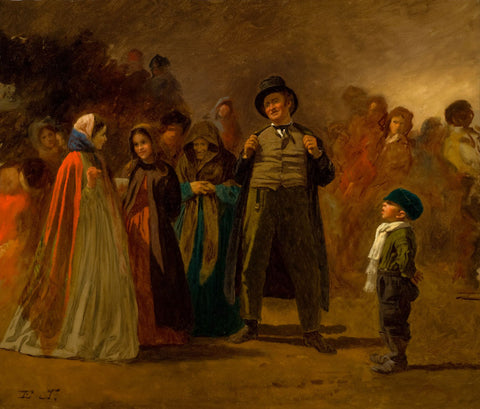 Eastman Johnson - The Storyteller of the Camp (Maple Sugar Camp)