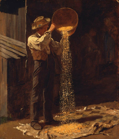 Eastman Johnson - Winnowing Grain