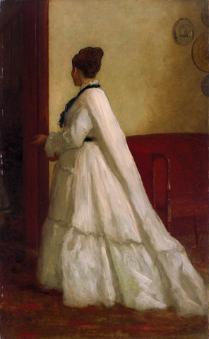 Eastman Johnson - Woman in White Dress