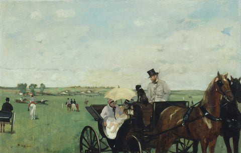 Edgar Degas - At the Races