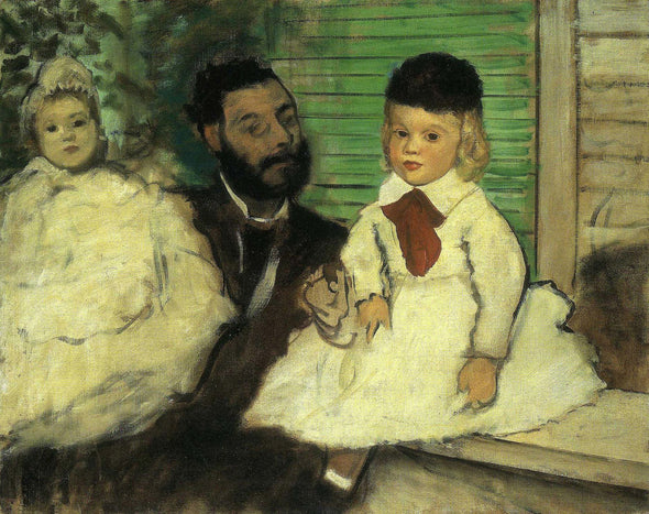 Edgar Degas - Count Lepic and His Daughters