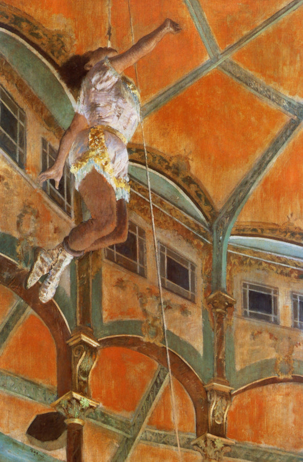 Edgar Degas - Miss La La at the Cirque Fernando