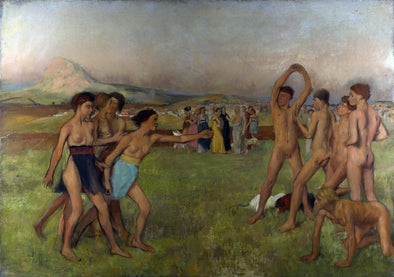 Edgar Degas - Young Spartans Exercising