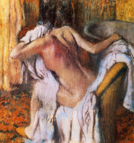 Edgar Degas - After the Bath Woman Drying