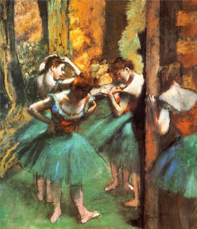 Edgar Degas - Dancers Pink And Green