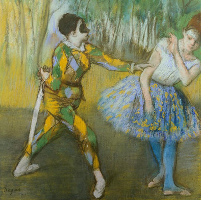 Edgar Degas - Harlekin and Colombine
