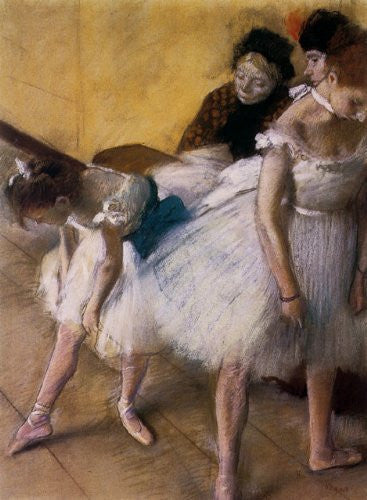 Edgar Degas - Before The Rehearsal Ballet Dance