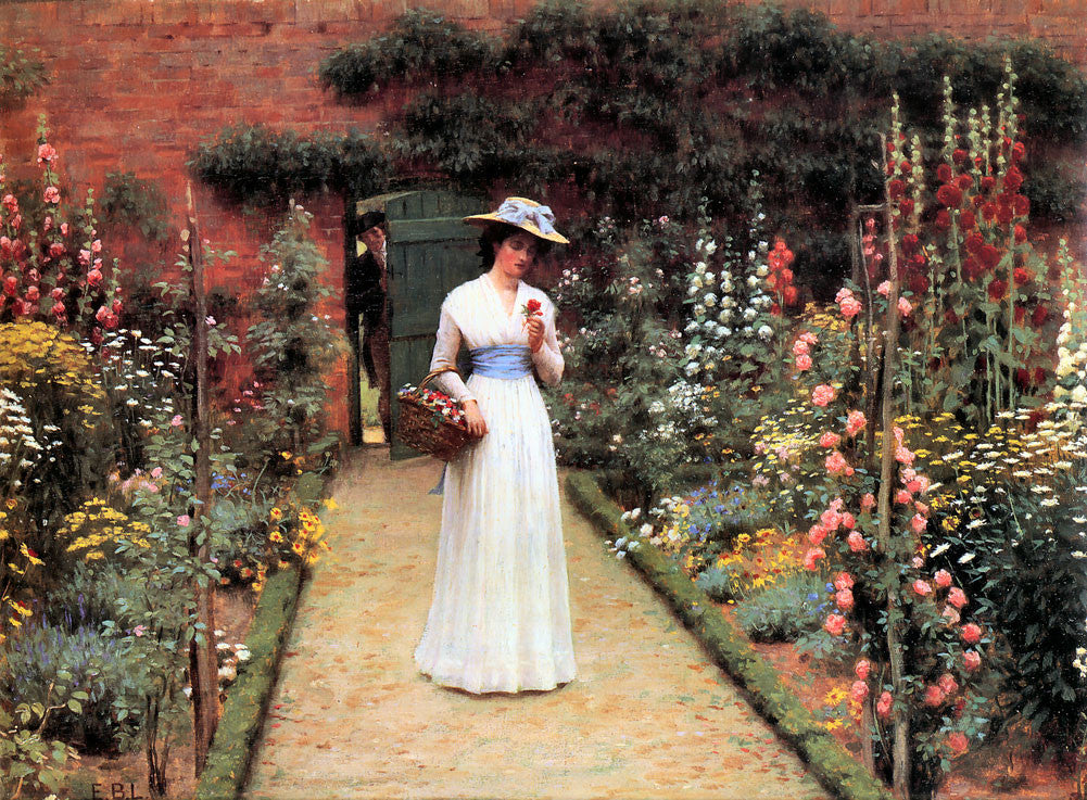 Edmund Blair Leighton - Lady in Garden