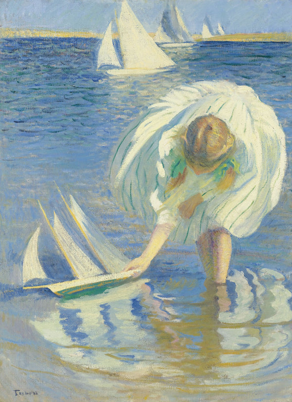 Edmund Charles Tarbell - Child and Boat