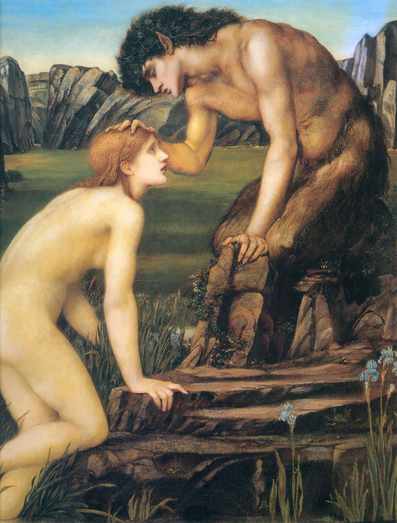 Edward Burne-Jones - Psyche and Pan