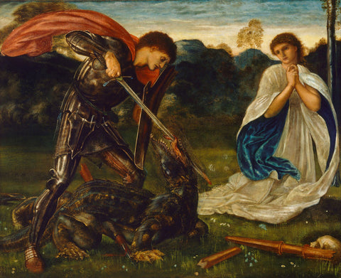 Edward Burne-Jones - St. George and the Dragon