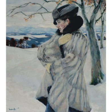 Edward Cucuel - Girl With Fur Coat