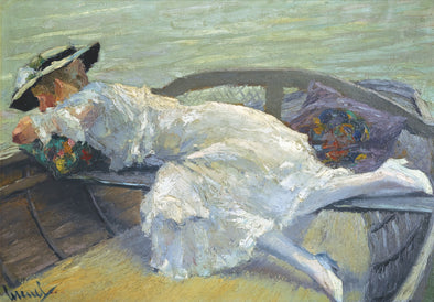 Edward Cucuel - Girl in a Boat