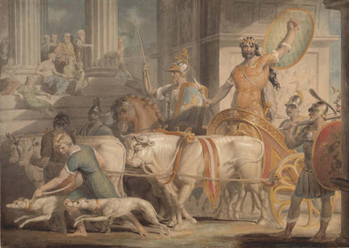 Edward Dayes - Lycurgus entering Athens and Theseuss approach to Athens