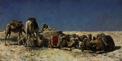 Edwin Lord Weeks - Camels Beside a Cistern