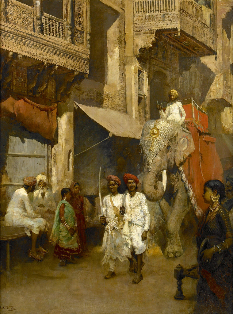 Edwin Lord Weeks - Promenade on an Indian Street