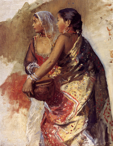 Edwin Lord Weeks - Sketch Two Nautch Girls