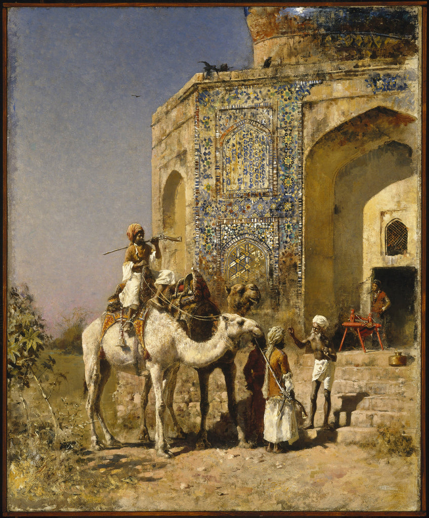 Edwin Lord Weeks - The Old Blue-Tiled Mosque Outside of Delhi India