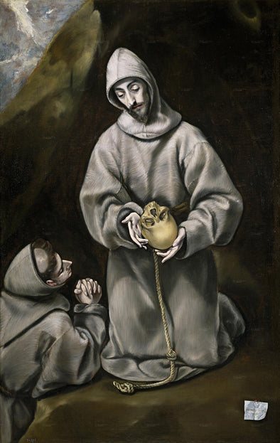 El Greco - Saint Francis and Brother Leo Meditating on Death