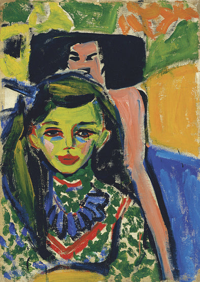 Ernst Ludwig Kirchner - Franzi in front of Carved Chair