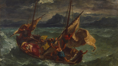 Eugene Delacroix - Christ on the Sea of Galilee (Christ sur ??la mer de Galilée)
