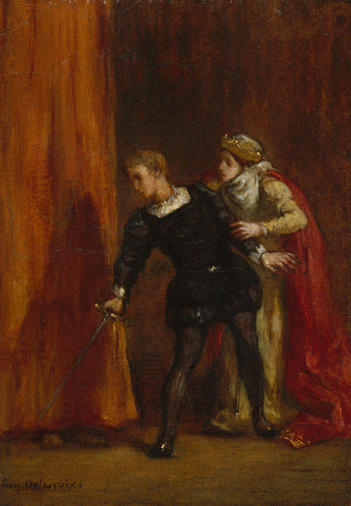 Eugène Delacroix - Hamlet and His Mother