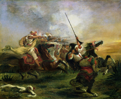Eugène Delacroix - Moroccan horsemen in military action