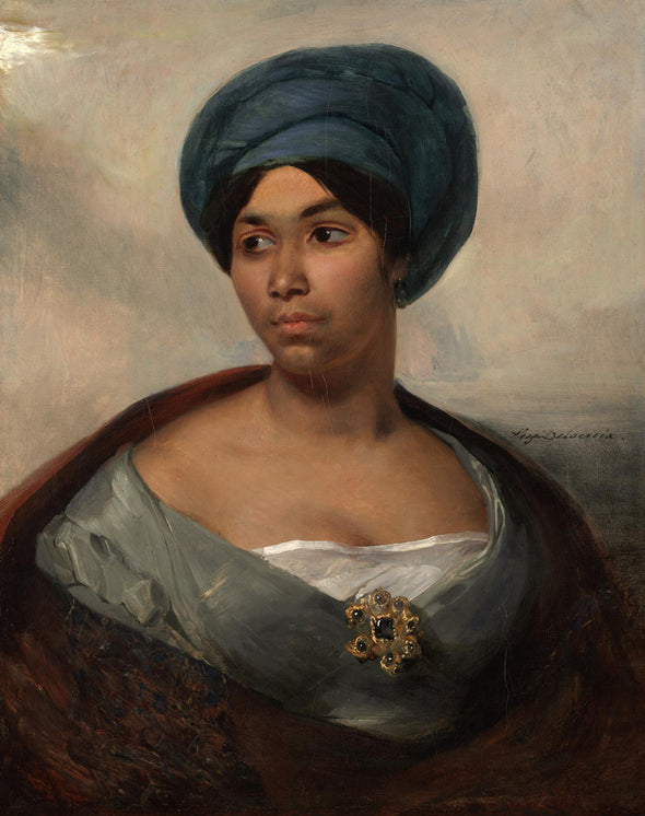 Eugène Delacroix - Portrait of a Woman in a Blue Turban