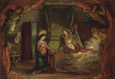 Eugène Delacroix - The Annunciation