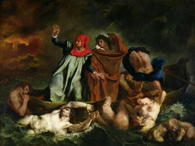 Eugène Delacroix - The Barque of Dante