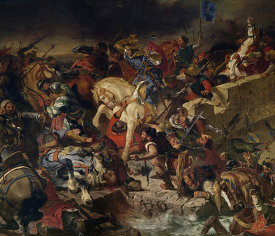 Eugène Delacroix - The Battle of Taillebourg