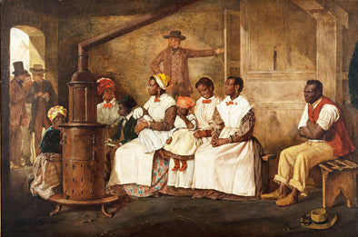 Eyre Crowe - Slaves Waiting for Sale, Richmond, Virginia