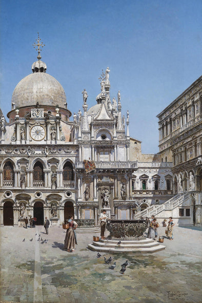 Federico del Campo - Courtyard of the Doge'S Palace, Venice