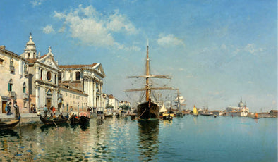 Federico del Campo - The Church Gesuati from the Giudecca Canal