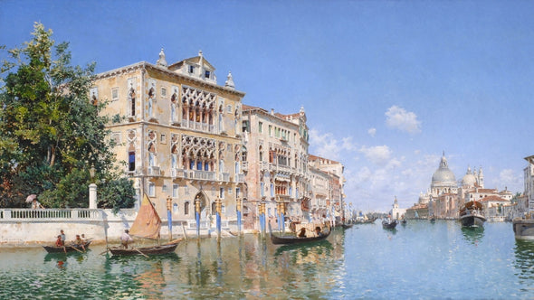 Federico del Campo - The Grand Canal Looking Towards Santa Maria Della Salute
