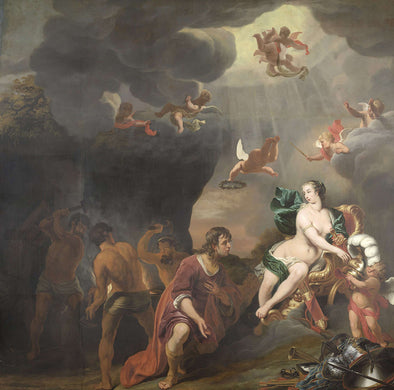 Ferdinand Bol - Venus presenting Aeneas with armour from Vulcano's smithy