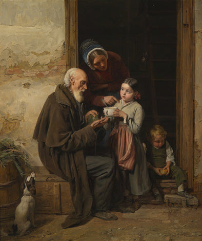 Ferdinand Georg Waldmüller - A Charitable Gift