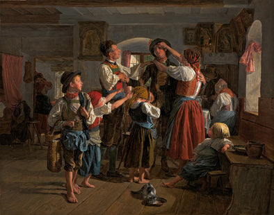 Ferdinand Georg Waldmüller - The Conscripts Farewell