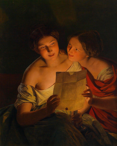 Ferdinand Georg Waldmüller - The Love Letter