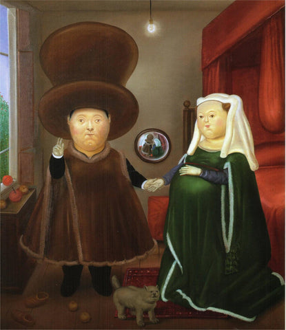 Fernando Botero - After the Arnolfini Van Eyck