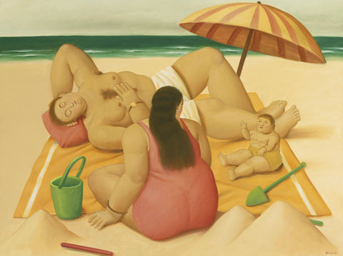Fernando Botero - Family On A Beach