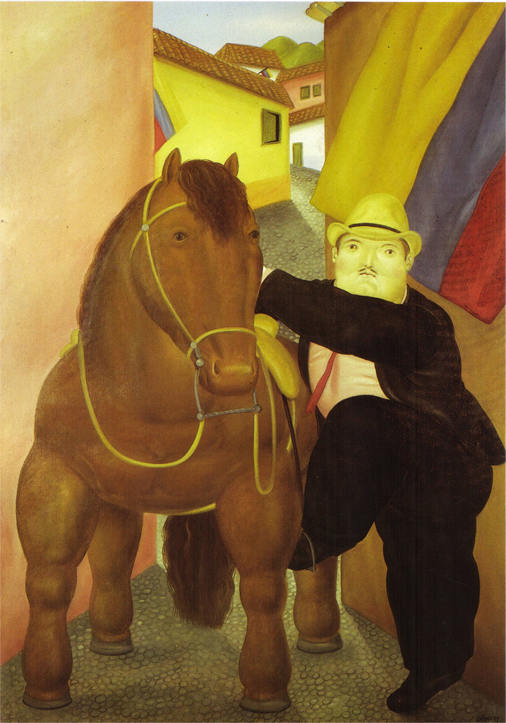 Fernando Botero - Man and Horse