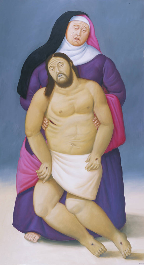 Fernando Botero - Mary and Dead Jesus