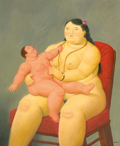 Fernando Botero - Mother and Child
